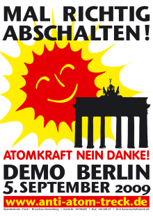 Anti-Atom-Demo 05. September 2009 in Berlin